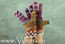 Перчатки вязаные - своими яркими красками раскрасят любую зиму