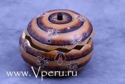 Шкатулки из тыквы ручной работы, специальный дизайн с пчелами