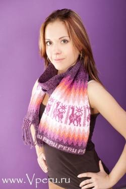 шапка и шарф - теплый и натуральный комплект