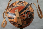 Сумка из тыквы ручной работы с южно-американскими узорами