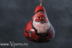 """ёлочные украшения, рождественская игрушка """"Дед Мороз с мешком игрушек"""""""