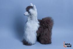 мягкая игрушка лама из натурального меха альпака. LamaLand