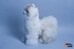 мягкая игрушка лама (Альпака) из натурального меха альпака. LamaLand