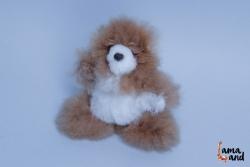 мягкая игрушка  мишка из натурального меха альпака. LamaLand