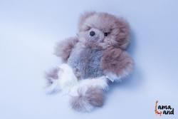 мягкая игрушка  мишка альпака из натурального меха альпака. LamaLand