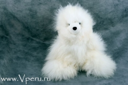 мягкая игрушка  мишка из натурального меха альпака