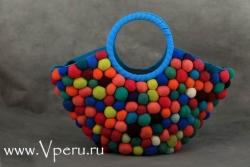 Сумки из шерсти, войлок - дизайнерской работы из Перу