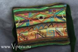 Сумки на плечо зеленая - дизайнерской работы из Перу