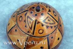 Шкатулки из тыквы ручной работы, специальный дизайн с узорами